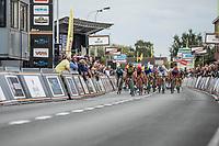 Dylan Groenewegen (NED/Lotto NL - Jumbo) wins the traditional bunch sprint. <br /> <br /> 103th Kampioenschap van Vlaanderen 2018 (UCI 1.1)<br /> Koolskamp – Koolskamp (186km)