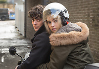 Dead in a Week: Or Your Money Back (2018)<br /> Aneurin Barnard and Freya Mavor <br /> *Filmstill - Editorial Use Only*<br /> CAP/MFS<br /> Image supplied by Capital Pictures