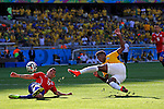Gary Medel (CHI), Jo (BRA),<br /> JUNE 28, 2014 - Football / Soccer :<br /> FIFA World Cup Brazil 2014 Round of 16 match between Brazil 1(3-2)1 Chile at Estadio Mineirao in Belo Horizonte, Brazil. (Photo by D.Nakashima/AFLO)