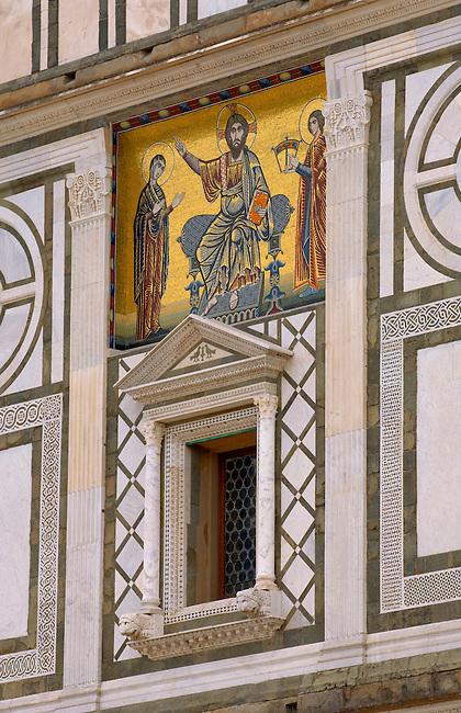 Facade of San Miniato Church - Florence Italy.