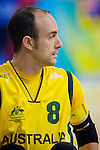 Bryce Alman of Australia, a 2 pointer takes the field in the Australia vs Canada match of the Quad Rugby preliminary rounds at the USTB Gymnasium at the Paralympic Games, Beijing, China 15th September 2008