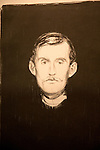 'Self-portrait' lithograph 1895  by Edvard Munch 1863-1944, Kode 3 art gallery Bergen, Norway