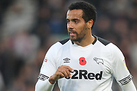 Derby County's Tom Huddlestone<br /> <br /> Photographer Mick Walker/CameraSport<br /> <br /> The EFL Sky Bet Championship - Derby County v Aston Villa - Saturday 10th November 2018 - Pride Park - Derby<br /> <br /> World Copyright &copy; 2018 CameraSport. All rights reserved. 43 Linden Ave. Countesthorpe. Leicester. England. LE8 5PG - Tel: +44 (0) 116 277 4147 - admin@camerasport.com - www.camerasport.com