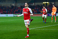 Fleetwood Town's Ashley Hunter celebrates scoring his side's second goal <br /> <br /> Photographer Richard Martin-Roberts/CameraSport<br /> <br /> The EFL Sky Bet League One - Fleetwood Town v Doncaster Rovers - Wednesday 26th December 2018 - Highbury Stadium - Fleetwood<br /> <br /> World Copyright &not;&copy; 2018 CameraSport. All rights reserved. 43 Linden Ave. Countesthorpe. Leicester. England. LE8 5PG - Tel: +44 (0) 116 277 4147 - admin@camerasport.com - www.camerasport.com