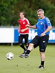 Nederland, Utrecht, 30 juni 2012.Eerste training van FC Utrecht .Rob Alflen, assistent-coach van FC Utrecht in actie met bal