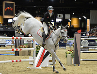 Jerome Guery (Belgium), riding Upper Star at the Gucci Gold Cup International Jumping competition at the 2015 Longines Masters Los Angeles at the L.A. Convention Centre.<br /> October 3, 2015  Los Angeles, CA<br /> Picture: Paul Smith / Featureflash