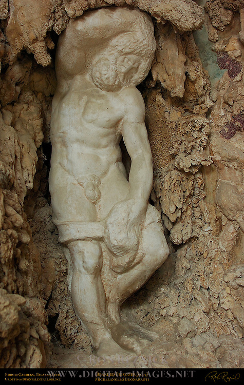 Michelangelo Bearded Prisoner Outer Grotto Grotto of Buontalenti Palazzo Pitti Florence