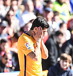 FC Barcelona's Luis Suarez  during La Liga match. February 7, 2016. (ALTERPHOTOS/Javier Comos)