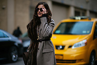 Eleanora Carisi attends Day 8 of New York Fashion Week on Feb 19, 2015 (Photo by Hunter Abrams/Guest of a Guest)