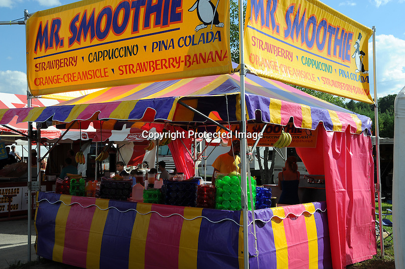 Mr. Smoothie booth at Cheshire Fair in Swanzey, New Hampshire USA