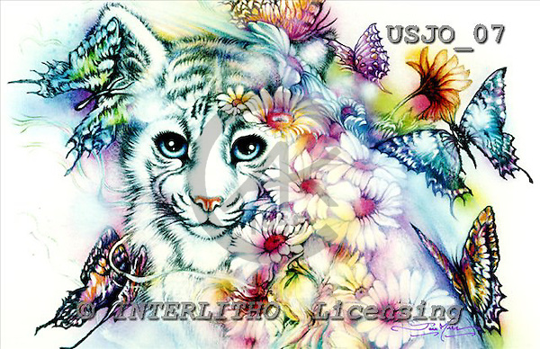 Marie, REALISTIC ANIMALS, REALISTISCHE TIERE, ANIMALES REALISTICOS, paintings+++++,USJO07,#A# ,Joan Marie tiger