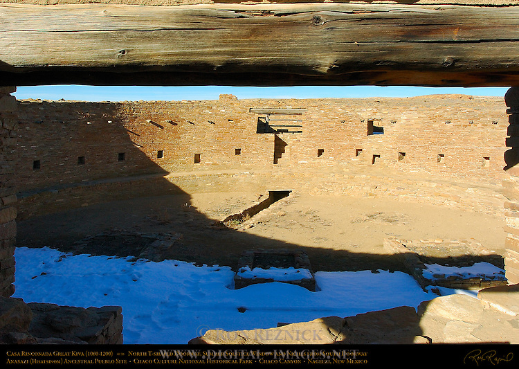 North T-Shaped Doorway, Summer Solstice Window and Niches, Subsurface Tunnel, Firebox and Vaults, Casa Rinconada Great Kiva, Anasazi Hisatsinom Ancestral Pueblo Site, Chaco Culture National Historical Park, Chaco Canyon, Nageezi, New Mexico