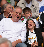 Pictured: Saturday 30 July 2016<br /> Re: Wolverhampton Wanderers v Swansea City FC, pre-season friendly at the Molineux Stadium, England, UK<br /> Swans fans before the game