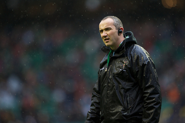Conor O'Shea, Harlequins Director of Rugby, during the Aviva Premiership match between Harlequins and London Irish at Twickenham on Saturday 29th December 2012 (Photo by Rob Munro).