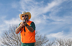 Sporting Clays shooter waits ready to fire during an afternoon of sporting clays amongst friends.