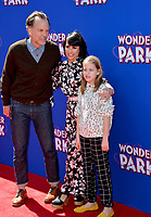 "LOS ANGELES, CA. March 10, 2019: Constance Zimmer, Russ Lamoureux & Colette Zoe Lamoureux at the premiere of ""Wonder Park"" at the Regency Village Theatre.<br /> Picture: Paul Smith/Featureflash"