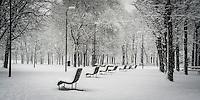 "Il Parco Nord di Milano durante l'ultima nevicata di febbraio<br /> <br /> ""Parco Nord"" in Milan during the last snowfall in february"