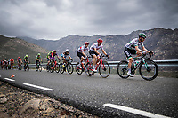 Sam Bennett (IRL/Bora-Hansgrohe) up the first categorised climb of the day: the Puerto de Bernardo<br /> <br /> Stage 20: Arenas de San Pedro to Plataforma de Gredos (190km)<br /> La Vuelta 2019<br /> <br /> ©kramon