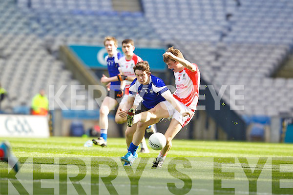 Maitiú Ó Flatharta Pobalscoil Chorca Duibhne,in action against Cormac O'Doherty St.Patrick's College Maghera, in the Hogan Cup Final, in Croke Park, Dublin on Saturday.