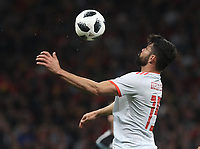 Spanish's forward Diego Costa<br /> Spain vs Argentina selections team pre Russian Soccer World Cup football match at Wanda Metropolitano stadium in Madrid on March 27, 2018.