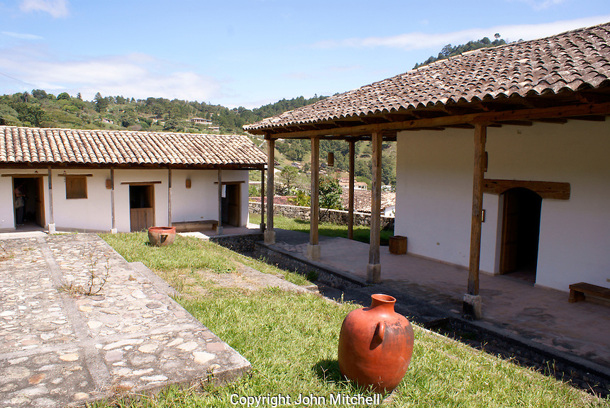 La Escuelona interpretation center in the Lenca Indian village of La Campa, Lempira, Honduras....