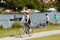 Thames Towpath , between Walton and Hampton Court , Surrey , August 2011 pic copyright Steve Behr / Stockfile