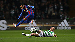 Scott Brown of Celtic tackles Neymar of Barcelona during the Champions League match at Celtic Park, Glasgow. Picture Date: 23rd November 2016. Pic taken by Lynne Cameron/Sportimage