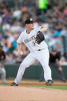 Charlotte Knights starting pitcher Erik Johnson (39) in action against the Rochester Red Wings at BB&T BallPark on August 8, 2015 in Charlotte, North Carolina.  The Red Wings defeated the Knights 3-0.  (Brian Westerholt/Four Seam Images)