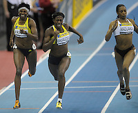Photo: Ady Kerry/Richard Lane Photography..Aviva Grand Prix. 21/02/2009. .Christine Ohuruogu wins the 200m from Donna Fraser and Joice Maduaka