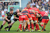 Jocelino Suta of Toulon in action at a maul. European Rugby Champions Cup match, between RC Toulon and Bath Rugby on January 10, 2016 at the Stade Mayol in Toulon, France. Photo by: Patrick Khachfe / Onside Images