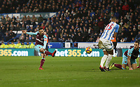 West Ham United's Manuel Lanzini scores his side's fourth goal <br /> <br /> Photographer Rob Newell/CameraSport<br /> <br /> The Premier League - Huddersfield Town v West Ham United - Saturday 13th January 2018 - John Smith's Stadium - Huddersfield<br /> <br /> World Copyright &copy; 2018 CameraSport. All rights reserved. 43 Linden Ave. Countesthorpe. Leicester. England. LE8 5PG - Tel: +44 (0) 116 277 4147 - admin@camerasport.com - www.camerasport.com
