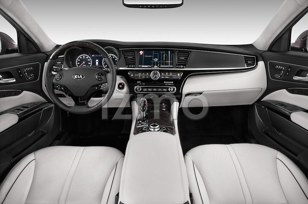Straight dashboard view of a 2015 KIA K900 Base 4 Door Sedan