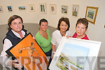 Members of Tralee Art Group Rosemary Daly, Geraldine Kissane, Judy Costelloe and Christa Vonhoff at their exhibition in Siamsa on Tuesday,