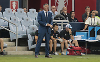 Kansas City, KS - Wednesday September 20, 2017: 	Peter Vermes during the 2017 U.S. Open Cup Final Championship game between Sporting Kansas City and the New York Red Bulls at Children's Mercy Park.