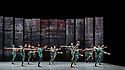 London, UK. 07.11.2019. Rambert presents RAMBERT EVENT, by Merce Cunningham, at Sadler's Wells. Choreography by Merce Cunningham, staging by Jeannie Steele, Music by Philip Selway, Quinta and Adem Ilhan, designs inspired by Gerhard Richter's 'Cage' series, performed by Rambert. Picture shows: The Company. Photograph © Jane Hobson.