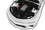 Car Stock 2016 Chevrolet Camaro 2SS 2 Door Coupe Engine  high angle detail view