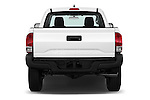 Straight rear view of 2017 Toyota Tacoma SR-Access 4 Door Pick-up Rear View  stock images