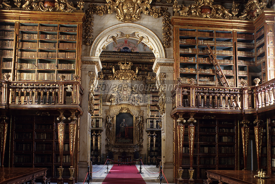 Europe/Portugal/Coimbra : Bibliothèque Joanine de l'université