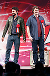 (L to R) Actors Karl Urban and Nathan Fillion attend the opening ceremony for the Tokyo Comic Con 2017 at Makuhari Messe International Exhibition Hall on December 1, 2017, Tokyo, Japan. This is the second year that San Diego Comic-Con International held the event in Japan. Tokyo Comic Con runs from December 1 to 3. (Photo by Rodrigo Reyes Marin/AFLO)