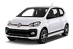 2018 Volkswagen UP GTi 3 Door Hatchback angular front stock photos of front three quarter view