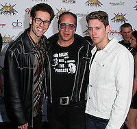 LOS ANGELES, CA, USA - APRIL 23: Max Silverstein, Andrew Dice Clay, Dylan Silverstein at the 2014 Revolver Golden Gods Award Show held at Club Nokia on April 23, 2014 in Los Angeles, California, United States. (Photo by Xavier Collin/Celebrity Monitor)