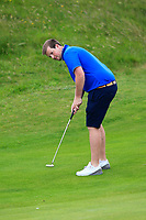 David Shaw (Belvoir Park) on the 16th green during Round 2 of The East of Ireland Amateur Open Championship in Co. Louth Golf Club, Baltray on Sunday 2nd June 2019.<br /> <br /> Picture:  Thos Caffrey / www.golffile.ie<br /> <br /> All photos usage must carry mandatory copyright credit (© Golffile | Thos Caffrey