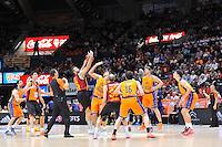 Salto inicial Loncar vs Vougioukas<br /> Euroleague - 2014/15<br /> Regular season Round 7<br /> Valencia Basket vs Galatasaray
