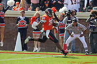 Oct 30, 2010; Charlottesville, VA, USA;   Virginia Cavaliers running back Keith Payne (22) runs for a 2nd quarter touchdown against the Miami Hurricanes at Scott Stadium.  Mandatory Credit: Andrew Shurtleff