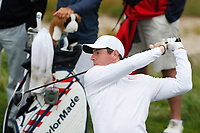 Rory McIlroy (NIR) tees off on the 12th hole during the Wednesday practice round of the 118th U.S. Open Championship at Shinnecock Hills Golf Club in Southampton, NY, USA. 13th June 2018.<br /> Picture: Golffile | Brian Spurlock<br /> <br /> <br /> All photo usage must carry mandatory copyright credit (&copy; Golffile | Brian Spurlock)