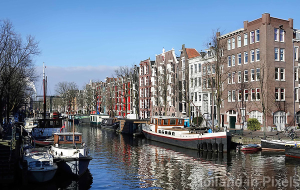 Nederland Amsterdam 2018.  De Brouwersgracht.   Foto Berlinda van Dam / Hollandse Hoogte