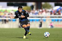 San Jose, CA - Sunday October 21, 2018: Nick Lima during a Major League Soccer (MLS) match between the San Jose Earthquakes and the Colorado Rapids at Avaya Stadium.