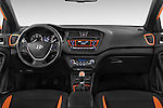 Stock photo of straight dashboard view of 2015 Hyundai I20 Sport 3 Door Hatchback Dashboard