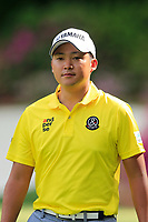 Shugo Imahira (JPN) on the 13th during the 1st round at the The Masters , Augusta National, Augusta, Georgia, USA. 11/04/2019.<br /> Picture Fran Caffrey / Golffile.ie<br /> <br /> All photo usage must carry mandatory copyright credit (© Golffile | Fran Caffrey)