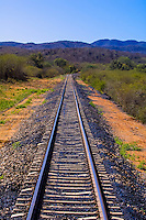 Train tracks of the Chihuahua al Pacifico Railroad near El Fuerte, Mexico